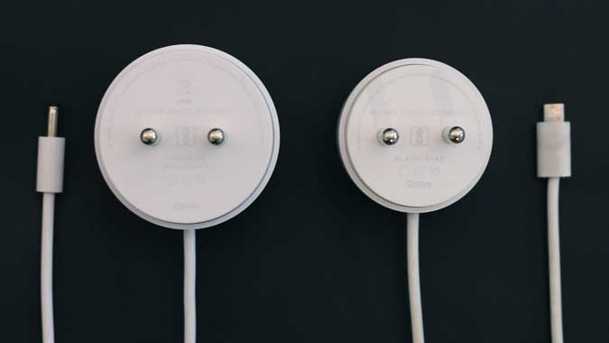 15W adaptor and 9W adaptor side by side