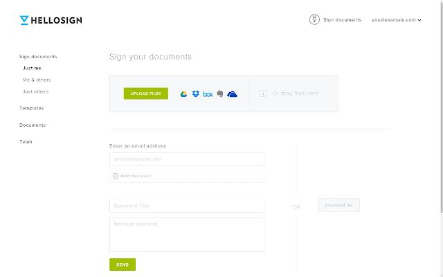 HelloSign document