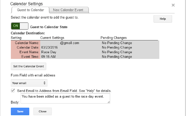 data director calendar settings