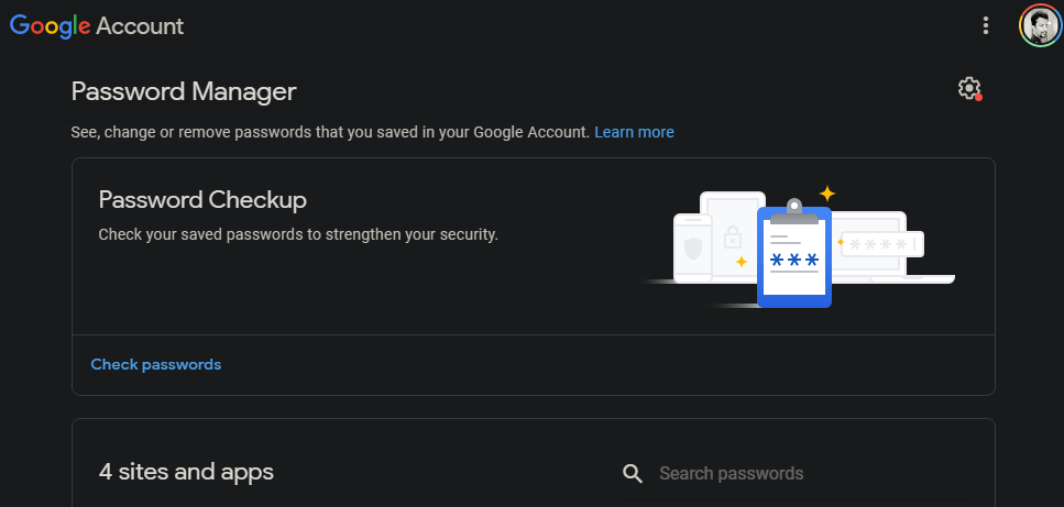 google password manager