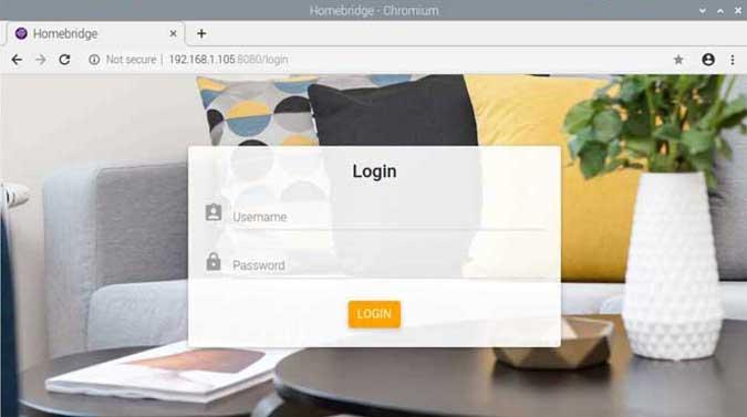 homebridge remote login portal