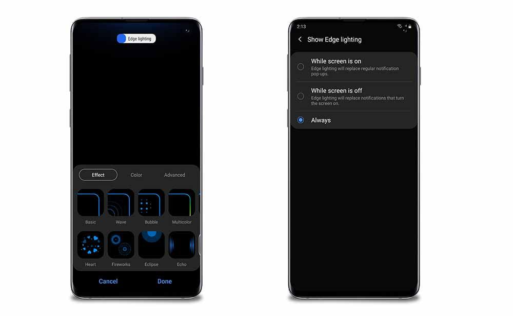 New Edge Lighting Options One UI 2.0