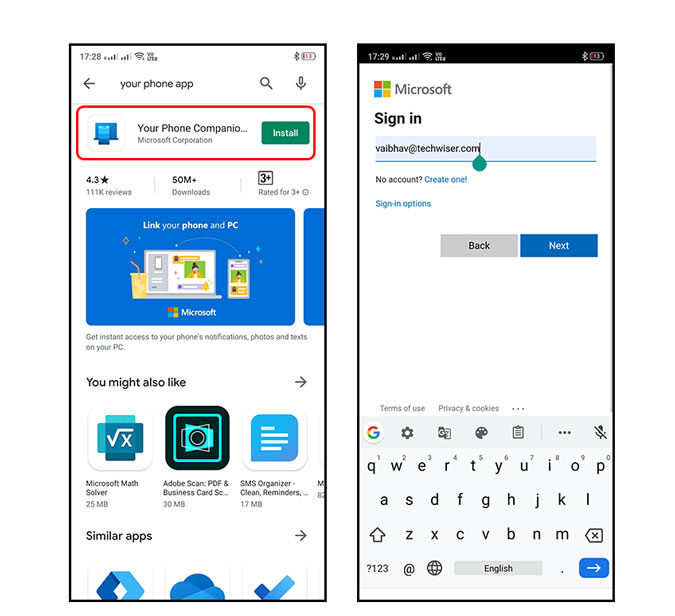 windows your phone companion app  getting started guide