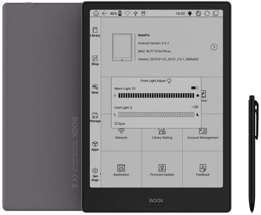 ONYX BOOX NOTE PRO E-Ink Device