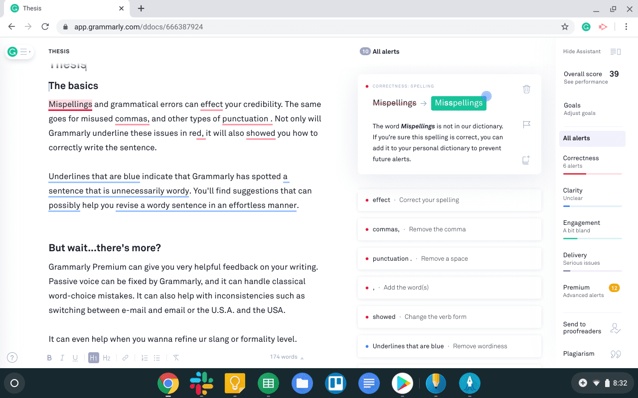 Get your Grammar correct using grammerly chromebook