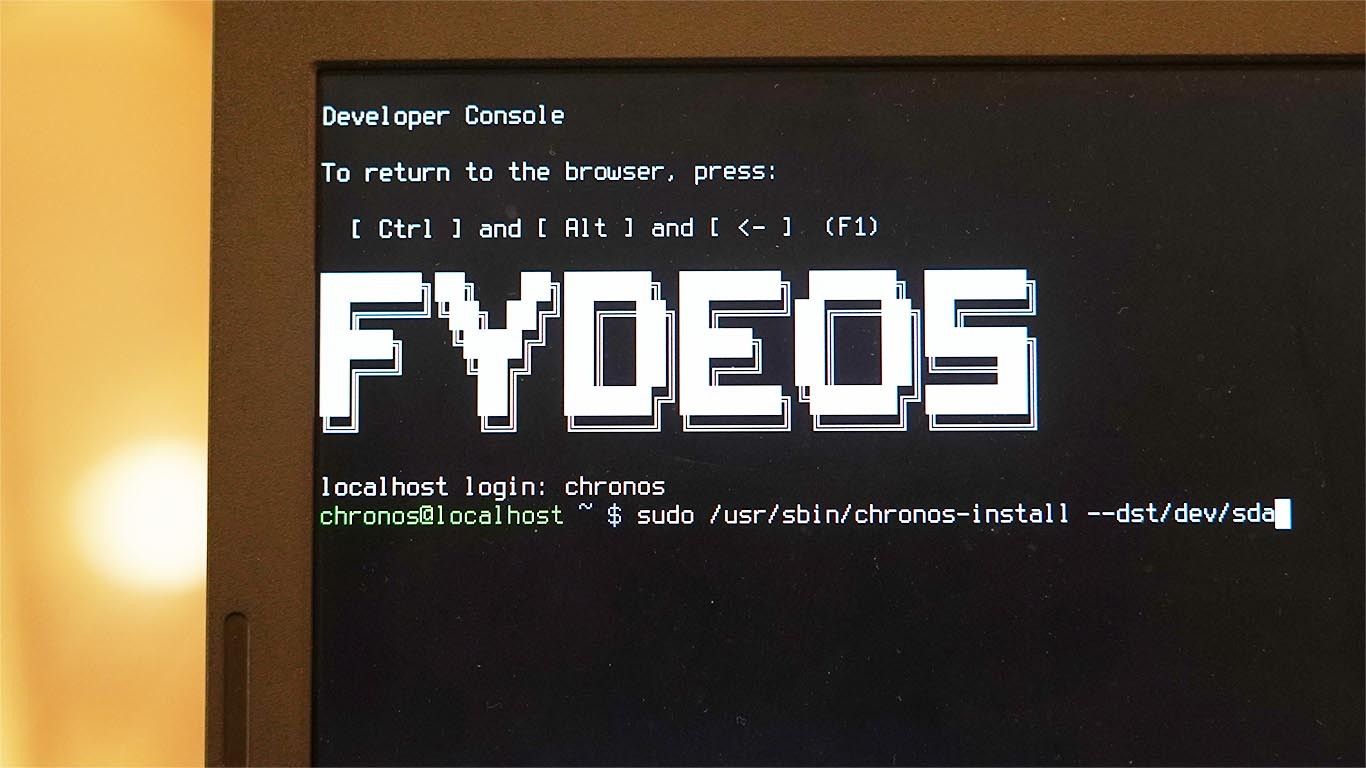 Fyde OS installation on thinkpad