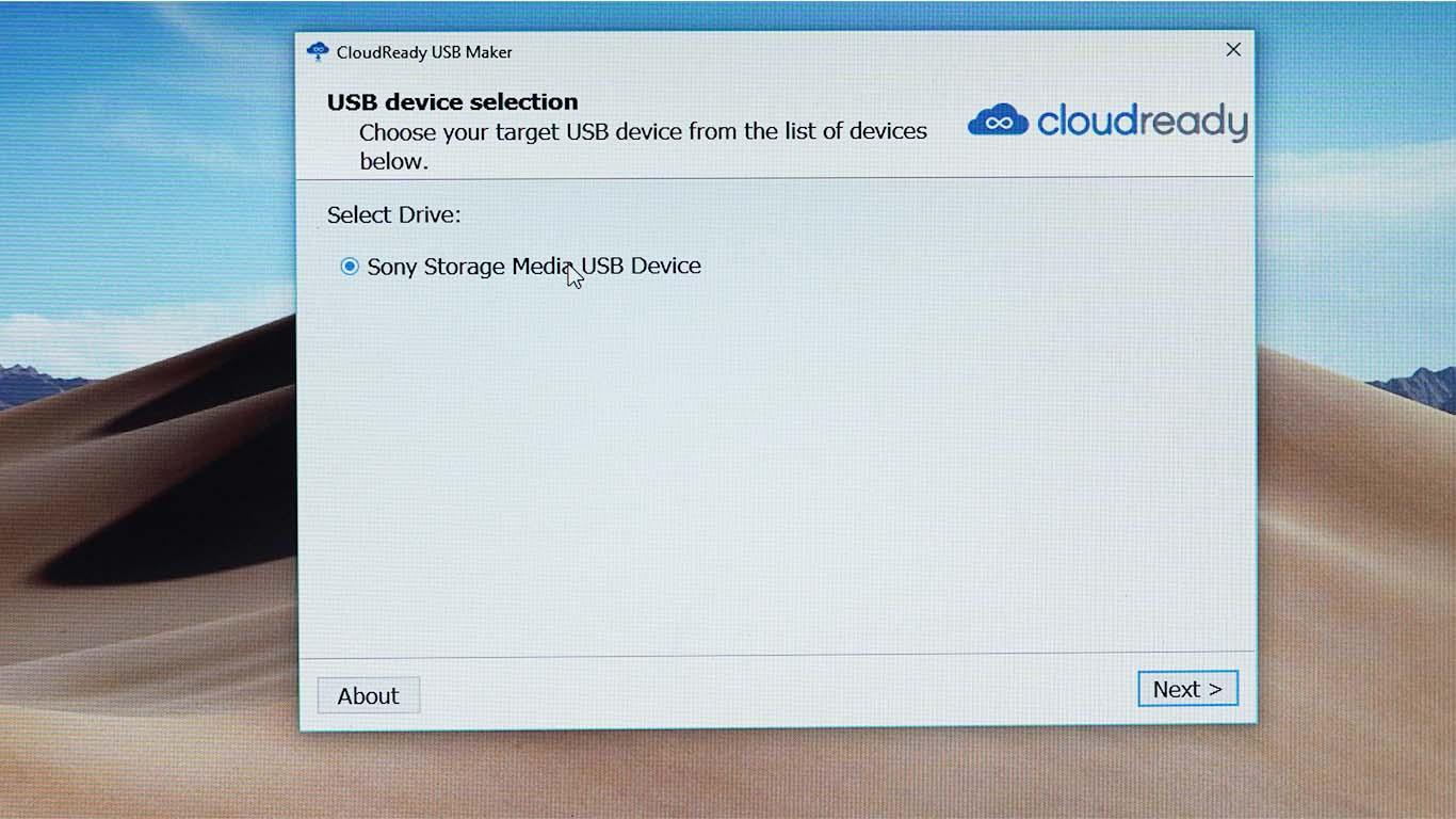 Cloudready USB maker
