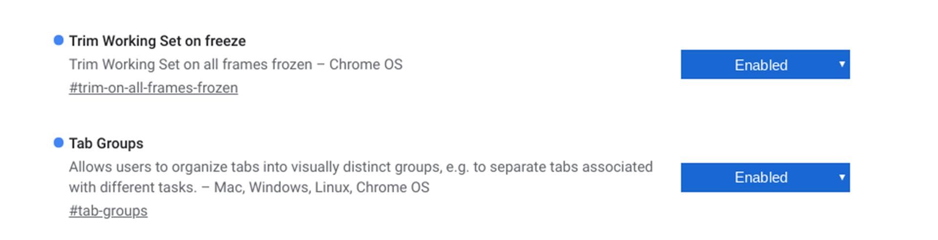 Freeze tabs & Tab Groups