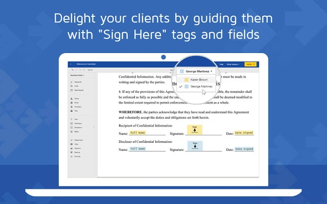 visual cue for user to sign in gmail