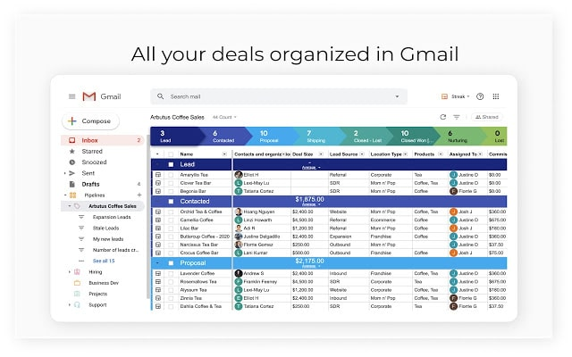 gmail turned into crm