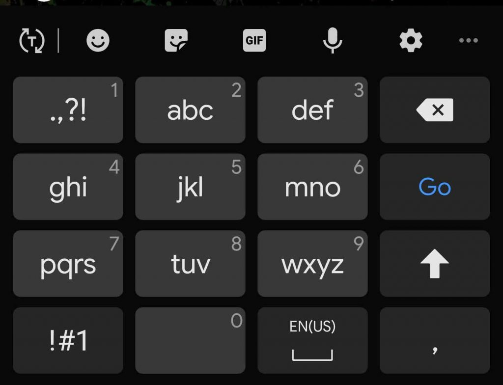 Change the Keybaord Layout