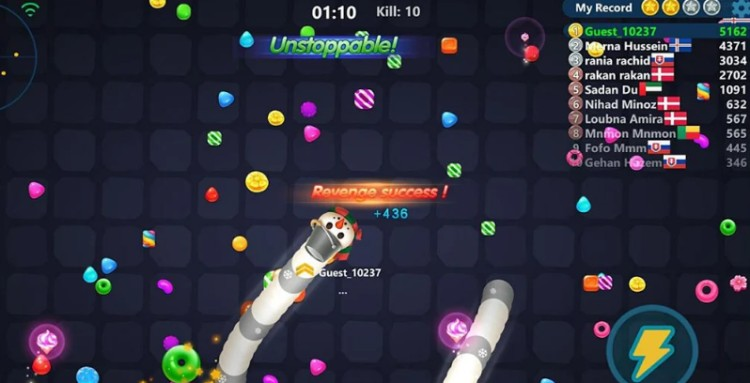 snake candy gameplay