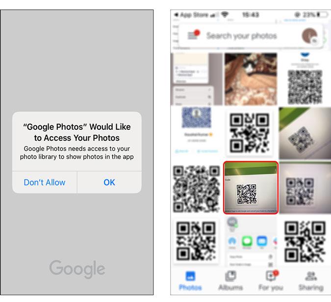 open an image in Google photos app