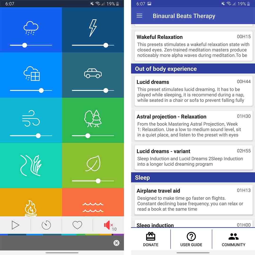 Binaural Beats Apps - best lucid dreaming app