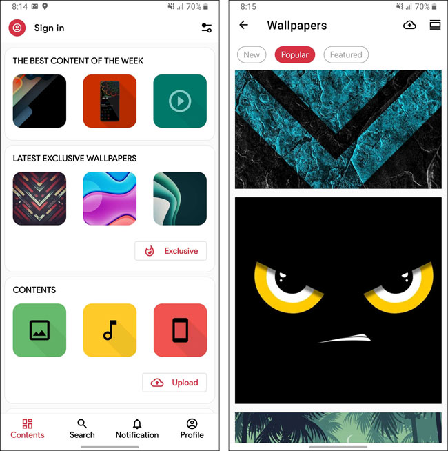 Creative - best wallpaper app for android