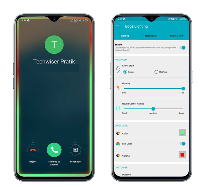 Edge Lighting: Notification- Samsung's Edge Lighting on any Android Phone