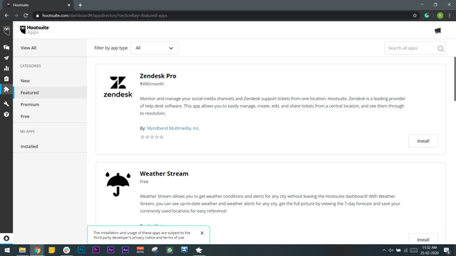 hootsuite app for Windows