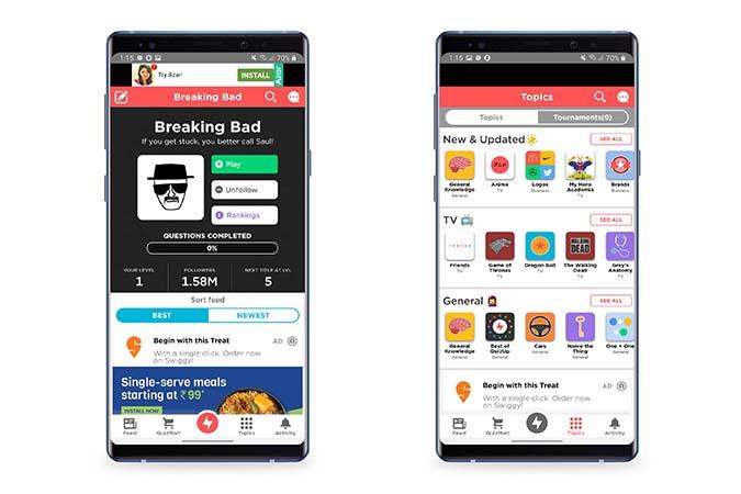 Quiz up - Best Quiz Apps Android