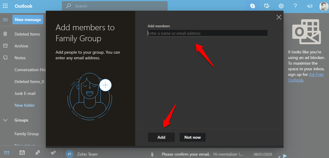 adding contacts to contacts group