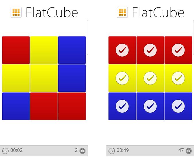 Playing Flatcube game