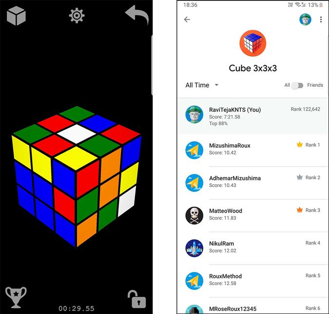 screenshot of Magic Cube puzzle 3d- rubik's cube app