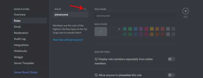 adding roles to your discord server