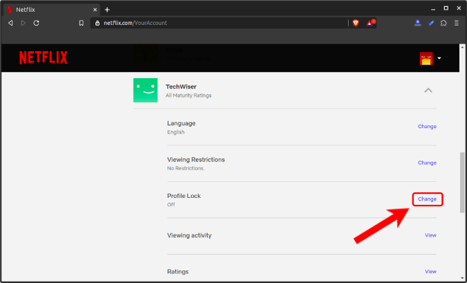 change_profile_lock - how to set up parental controls on netflix