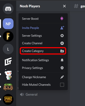 creating categories in your discord server