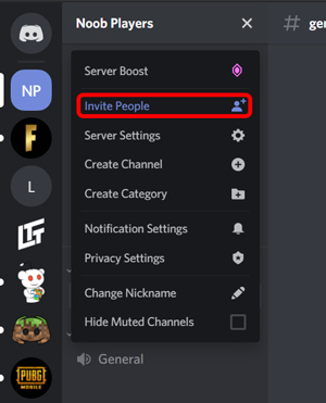 Inviting people to your discord server