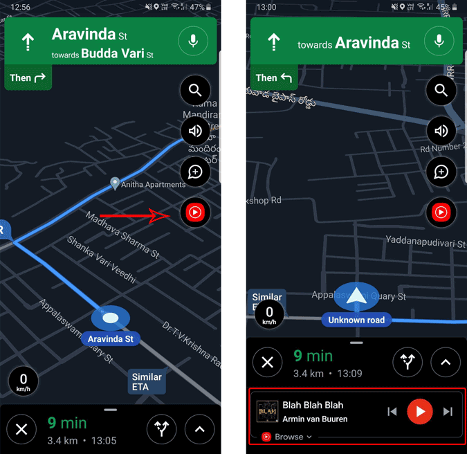 Playing YouTube Music from Google Maps