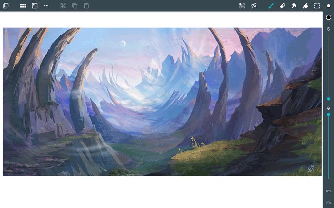 using artwork on chromebook