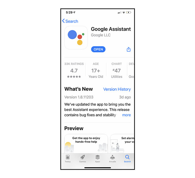 install google assistant