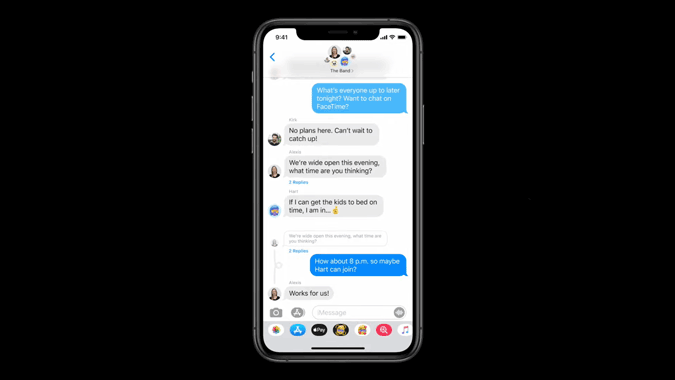 iMessages new features on iOS 14