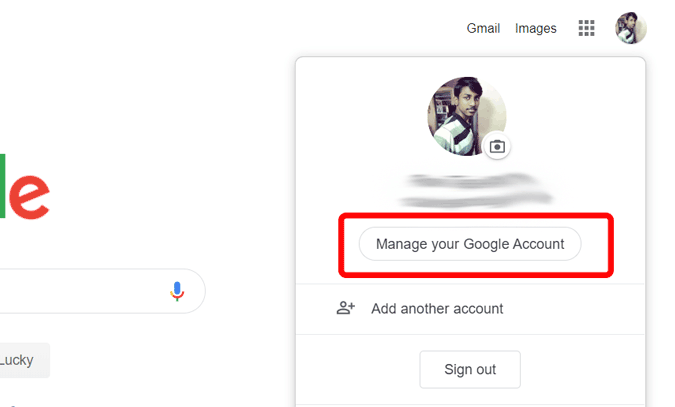 managing Google Account