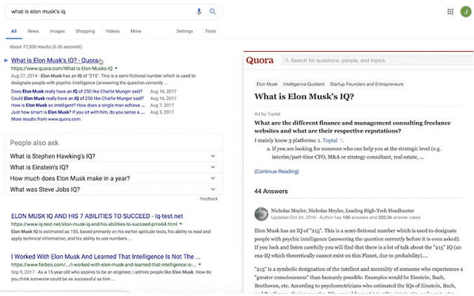 Google results Preview