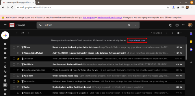 clear-mails-from-trash-in-gmail