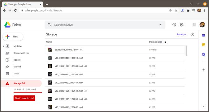 google-drive-storage-per-size