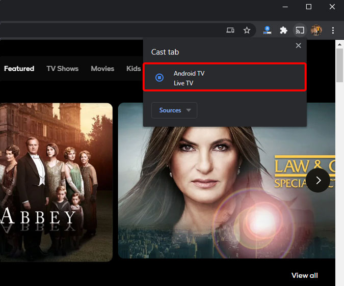 android-tv-cast-option-browser