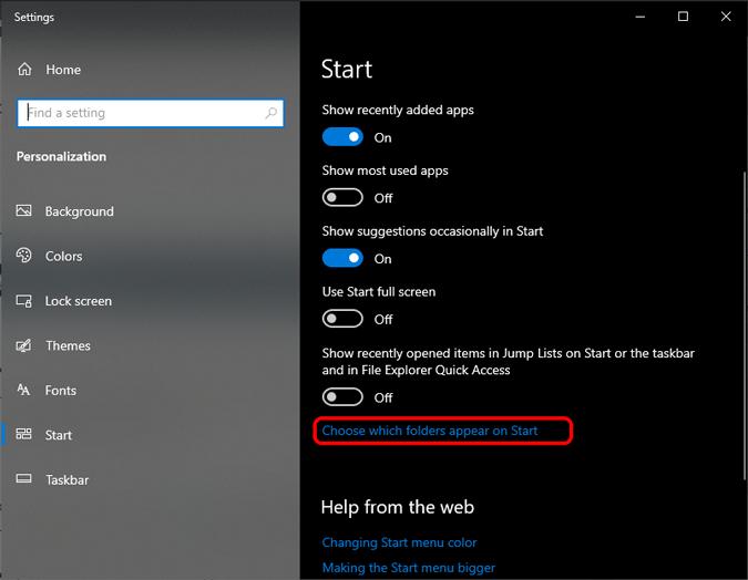 choose-folders-appearing-on-start-menu