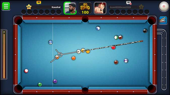 8 ball pool app screenshot