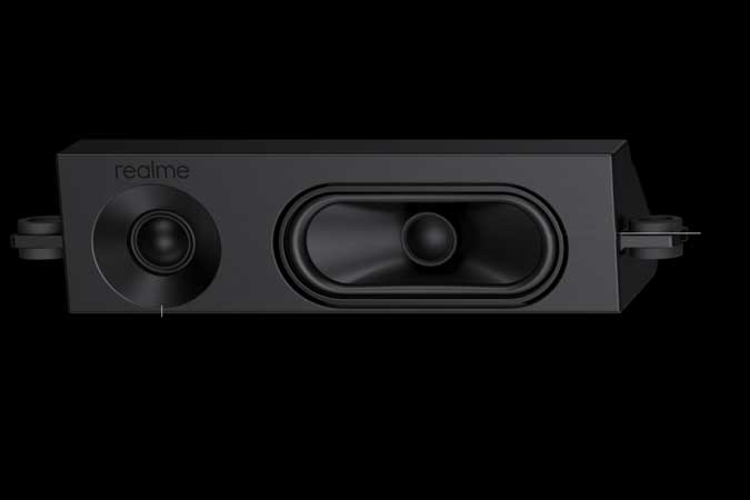 realme speaker with a tweeter on the side