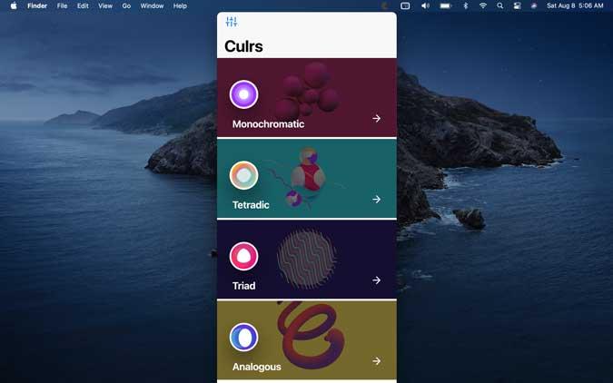 culrs app for macos