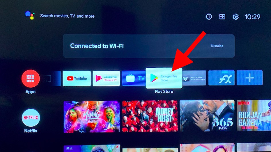 Google Play Store on Android TV