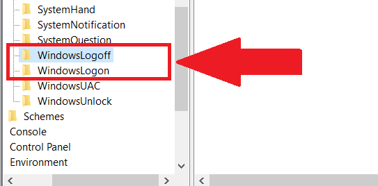 registry editor change windows login sound