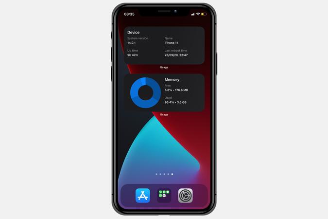 usage app widget