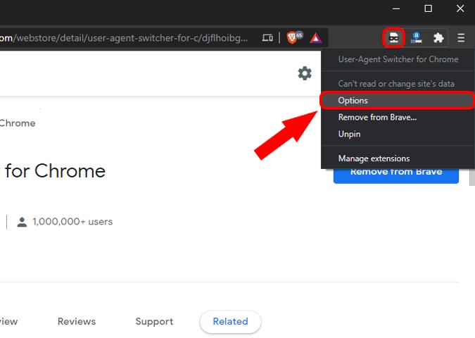 options-user-agent-switcher