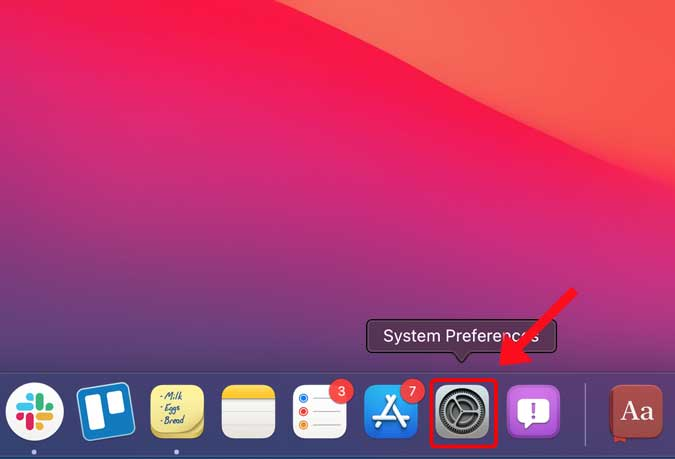 open the System Preferences app
