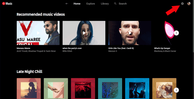 Opening Settings of YouTube Music Desktop App