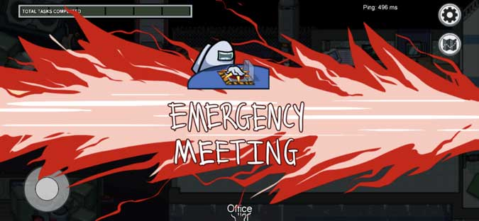 among us emergency meeting screen shot